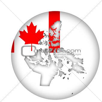 Canada Nunavut state map flag button