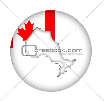 Canada Ontario state map flag button