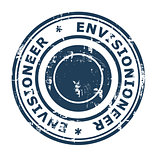 Envisionioneer business concept rubber stamp