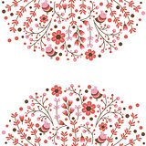 Set of vector floral frames. Cute collection of wreaths made of hand drawn leaves and flowers. Vintage set for invitations. save the date cards and other design.