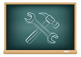 board hammer and wrench