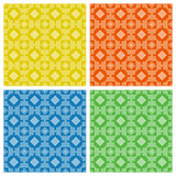 Set. Colored seamless geometric patterns