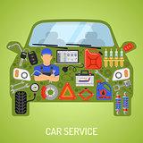 Car Service Concept