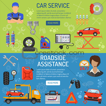 Car Service Banners