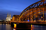 Hohenzollern Bridge in Cologne