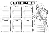Black and white school timetable theme 9