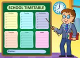 Weekly school timetable concept 6