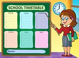 Weekly school timetable concept 7