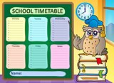 Weekly school timetable concept 8
