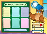 Weekly school timetable concept 9