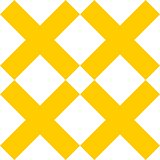 Tile yellow and white x cross vector pattern