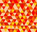 Tile vector background with yellow, red and brown triangle geometric mosaic