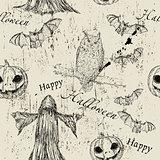 Halloween seamless texture