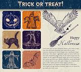 Vintage Halloween poster.