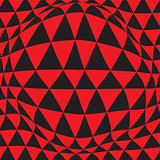 Black and Red Hypnotic Background. Vector Illustration.