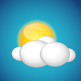 Weather Icons with Sun and Cloud