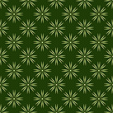 Geometric flowers. Green background