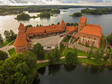 Trakai, Lithuania: Island Castle in the sunset