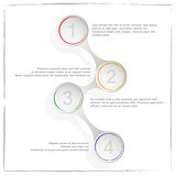 Circle process template infographic. Business concept with 4 options, parts, steps or processes