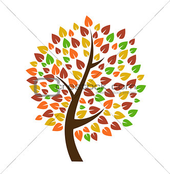 Autumn tree icon