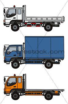 Small terrain trucks