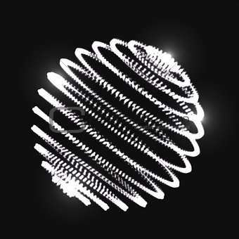 Abstract 3D sphere spiral shape