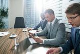 Meeting businessmen