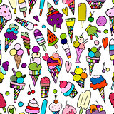 Icecream collection, seamless pattern for your design