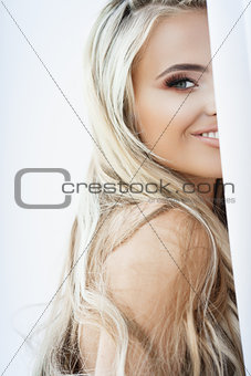 Blond smiling woman