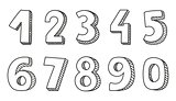Numbers vector isolated on white background