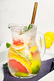 Detox citrus infused flavored water.