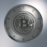 Concept Of Bitcoin Like A Security Lock