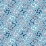 Vector seamless abstract pattern. Colorful spirals or threads