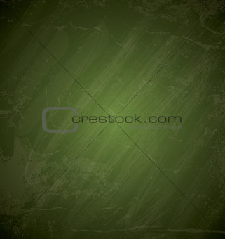 Green chalkboard background Grunge vector texture