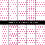 Simple seamless geometric patterns.