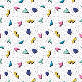 Vector abstract mosaic seamless pattern.