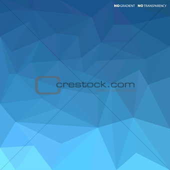 Blue abstract background with geometric shapes.