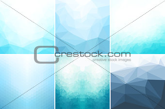 Blue abstract geometric backgrounds.