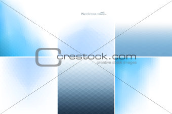 Blue abstract backgrounds.