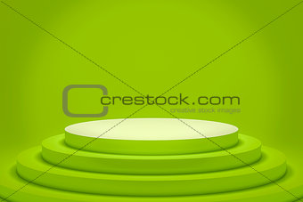a green podium with space for your content