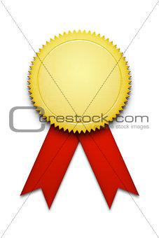 blank award ribbon badge