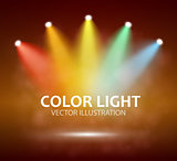 Spotlight on stage for your design. Colorful light.