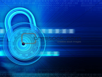 abstract background with lock