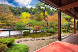 Buddhist Temple Autumn Garden