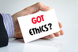 Got ethics text concept