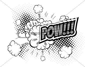 Pow - Comic Speech Bubble, Cartoon