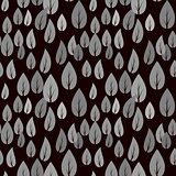 Autumn Grey Leaves Seamless Pattern