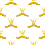 Wheats Ribbon Seamless Pattern