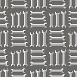 Set of Metallic Wrench Seamless Pattern.