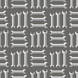 Set of Metallic Wrench Seamless Pattern.